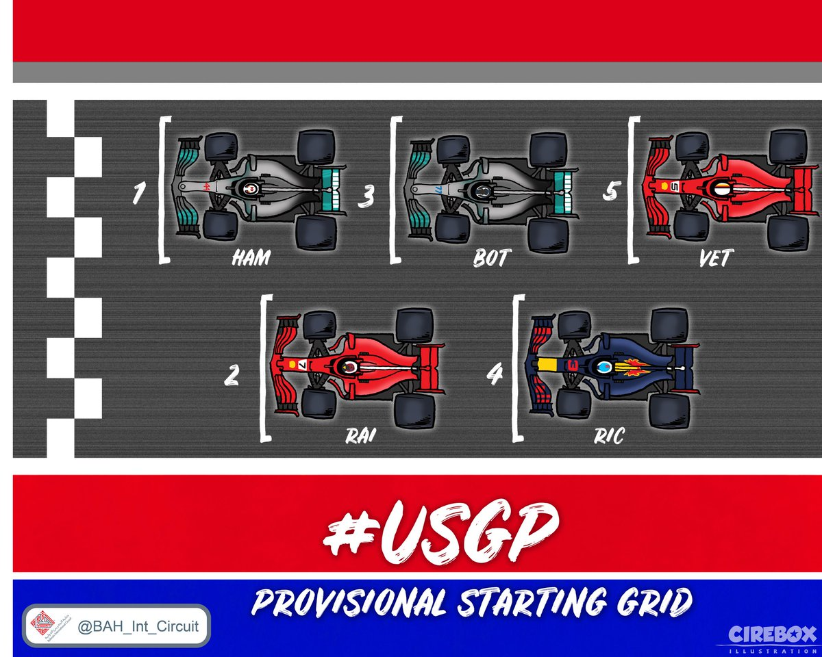Bahrain Int Circuit Bah Twitter Game Show 5 F1 Usgp Provisional Starting Gridpic Jzxsytqiwp
