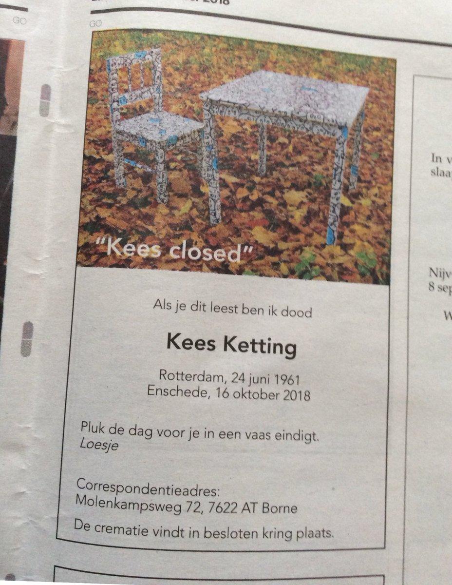 Bert Janssen على تويتر Kees Closed Kees Goes Op Zn