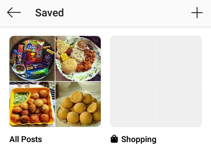 Instagram Saved posts now show two different collections as default info. Shopping  h/t @SupraBo_