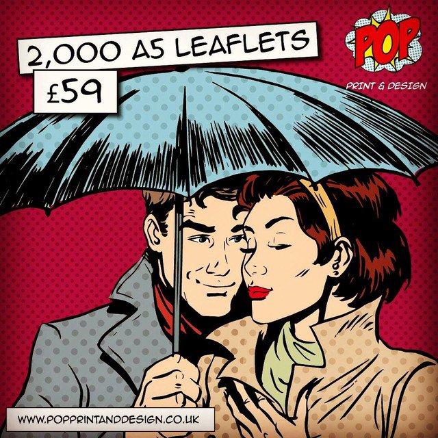 2,000 x A5 #LEAFLETS £59 with free P&P📦 #leeds #york #Sheffield #southyorksbiz #barnsley #huddersfield #doncaster #motorhour #StartUp #print