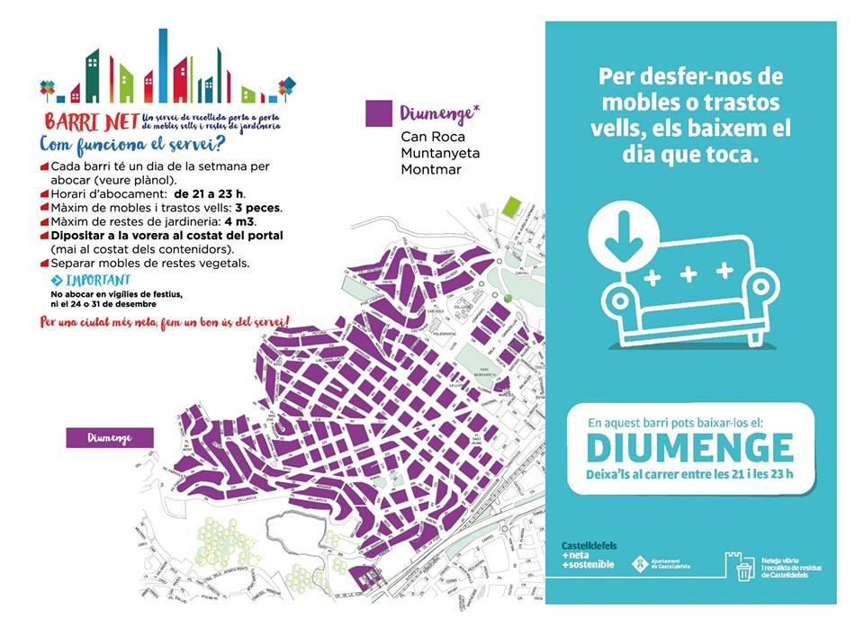 #BarriNet #EnBonesMans #Castelldefels Recorda que avui diumenge, 21 doctubre pots deixar les restes als barris de: Can Roca, Muntanyeta i Montmar a partir de les 21 hores a la porta de casa teva.
