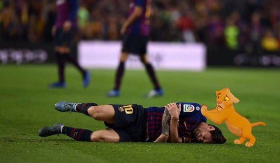Barca fans when they hear Lionel Messi will miss six games with a fractured arm 😥