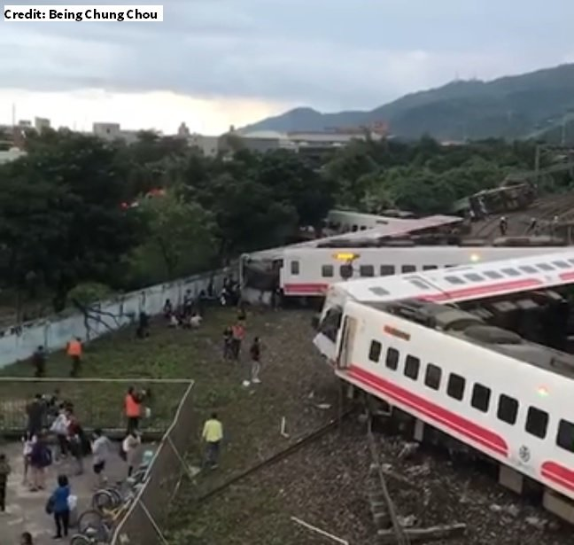 BREAKING: Passenger train derails in Taiwan, causing deaths and injuries