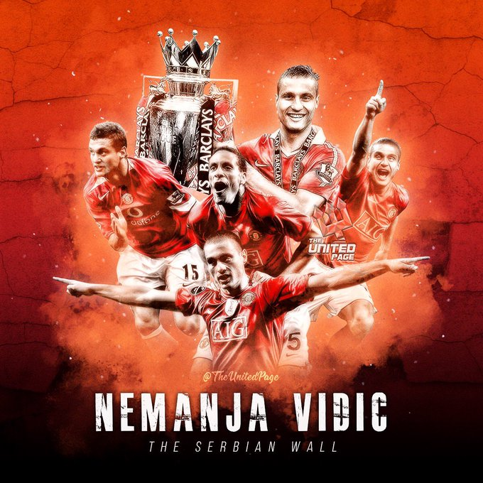 Happy birthday to the greatest defender in Premier League history - the Serbian Wall Nemanja Vidic!