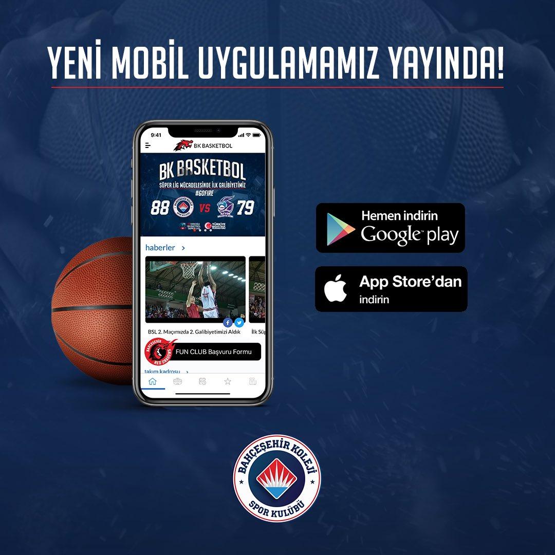 Takımın artık cebinde! Bize ulaşmak çok daha kolay! BKBasketbol Mobil uygulamasını indir 7/24 takımın hakkında haberdar ol!