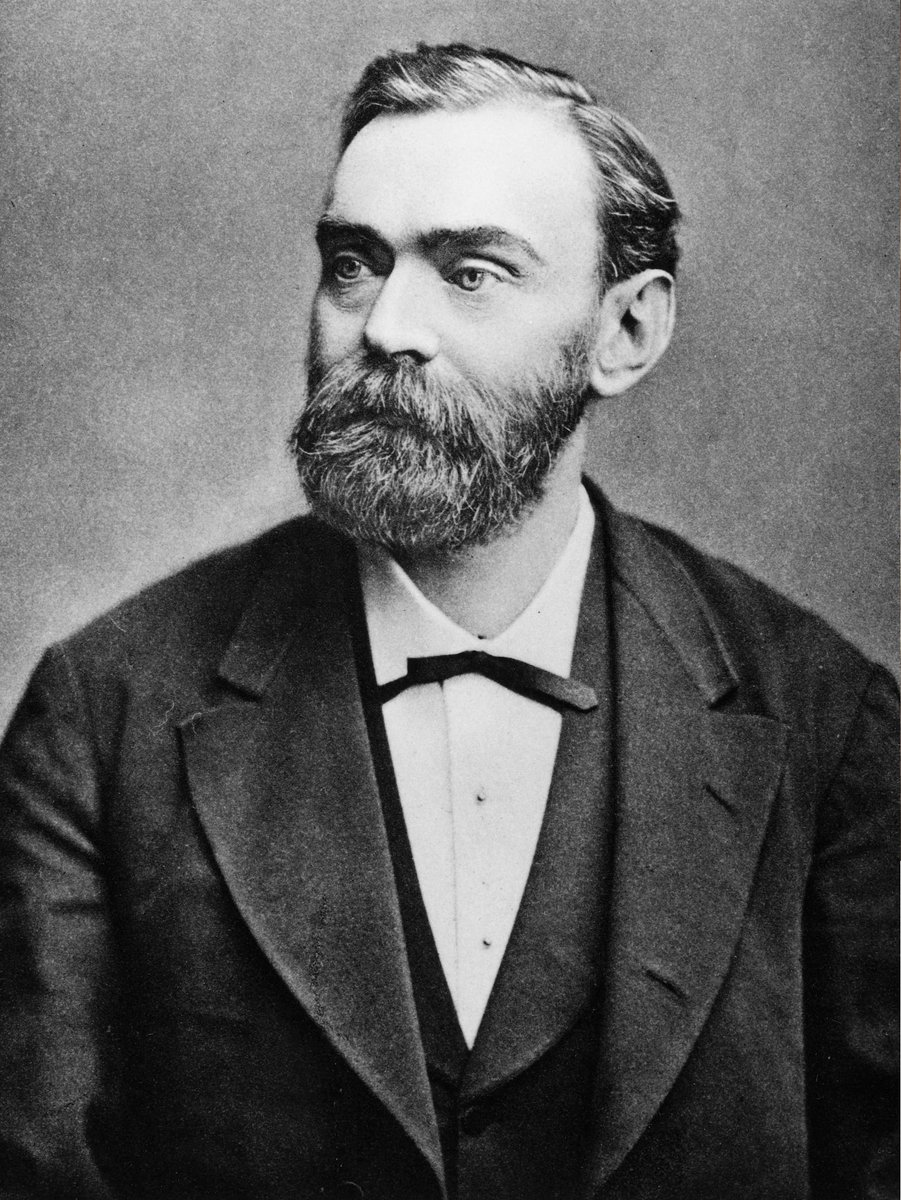Happy birthday Alfred Nobel, Swedish inventor and founder of the Nobel prize, who was born #OTD in 1833.