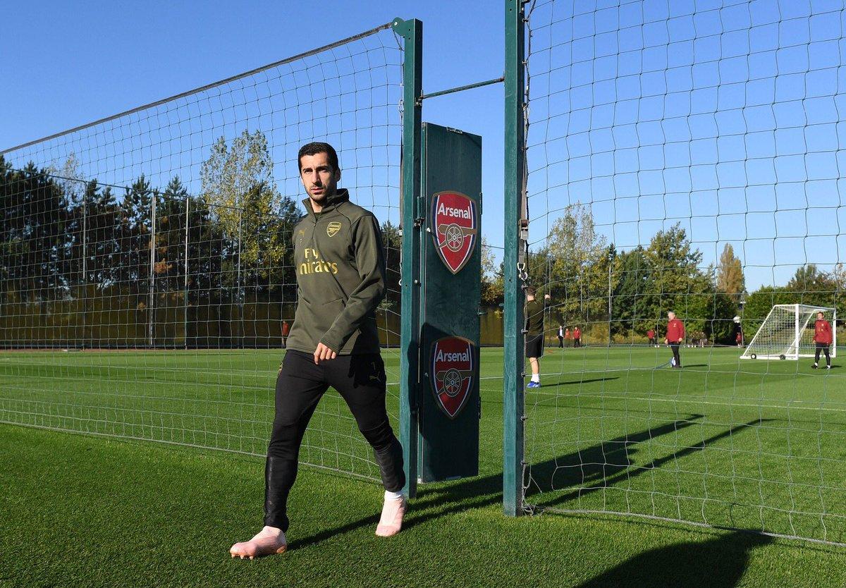 Back to club duties @Arsenal #ARSLEI
