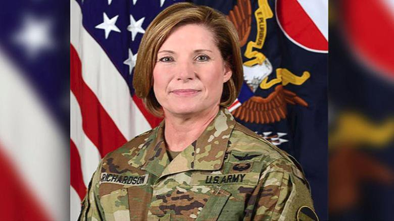 For the first time, a woman is leading the largest command in the US Army https://cnn.it/2ECp51u
