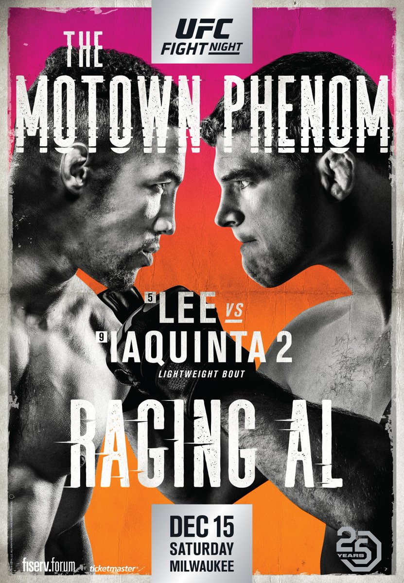 A lot has changed in the @ufc since 2014...  Who will come out on top when @MoTownPhenom and @ALIAQUINTA run it back? 👊 #UFCMilwaukee