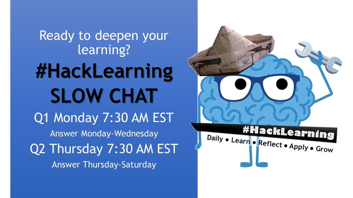 What an awesome chat! #HackLearning