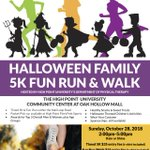 Registration is open for @hpu_dpt annual Halloween 🎃 Family 5K Fun Run and Walk! Don't forget to wear your costume! #OurCityOurUniversity