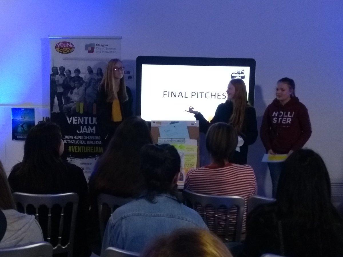 @ZeroWasteScot @mcsuk @gsc1 @GlasgowCC @SECGlasgow @DYWGlasgow @cityofscience @TheSSEHydro @VentureFestScot @CanDoScotland Fourth team to present their ideas at #venturejam 2018: Redivivus! 🤩