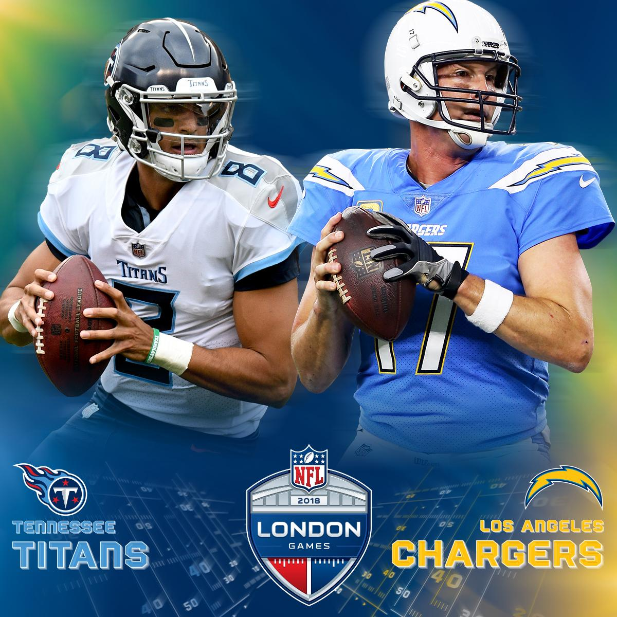 .@Titans vs. @Chargers LIVE from London! 🇬🇧  NEXT on CBS (9:30am ET). 🙌 #TENvsLAC @NFLUK
