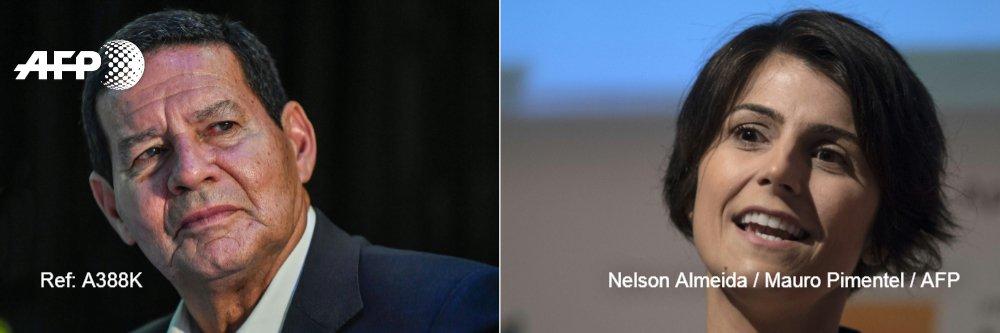 🇧🇷 Mourao y D'Ávila, aspirantes a vicepresidentes con perfiles diametralmente opuestos #AFP  https://t.co/JQMVkhU2Xe