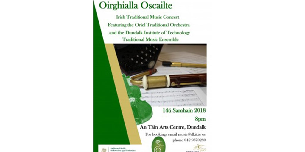 Dundalk Institute of Technology and the Oriel Traditional Orchestra (OTO) join forces this November for Irish Traditional Music Concert 'Oirghialla Oscailte' FIND OUT MORE:  http:// ow.ly/r6D530miFGq     #MusicExcellence #ThinkDkIT<br>http://pic.twitter.com/m7ID0yaG8M