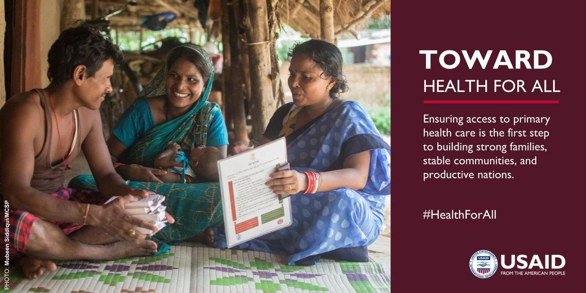 #USAIDTransforms by encouraging communities to promote #PrimaryHealthCare with the ultimate goal of #HealthForAll.