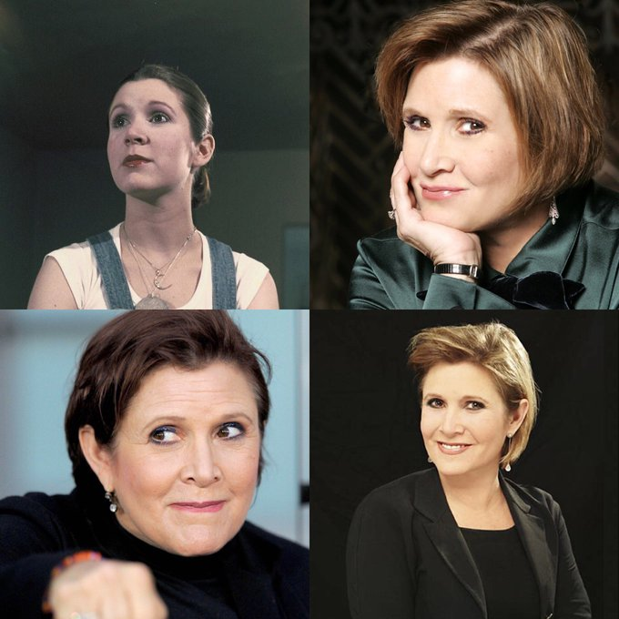 Happy 62 birthday to Carrie Fisher up in heaven. May she Rest In Peace.