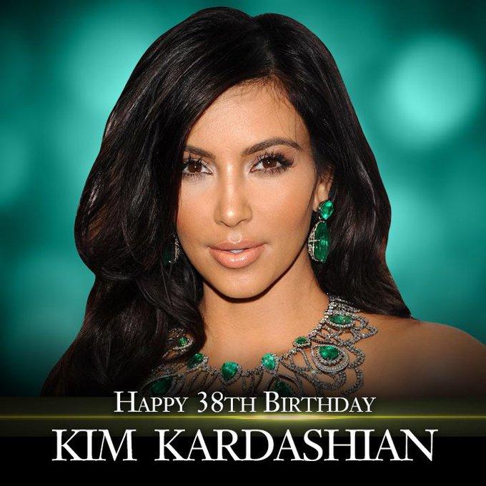 Happy Birthday to reality TV star Kim Kardashian.