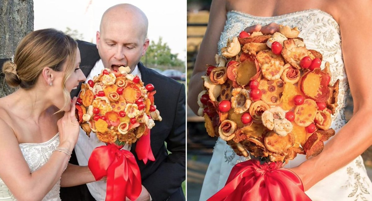 You can now get a wedding bouquet made entirely out of pizza https://t.co/3iBDXbHpFk