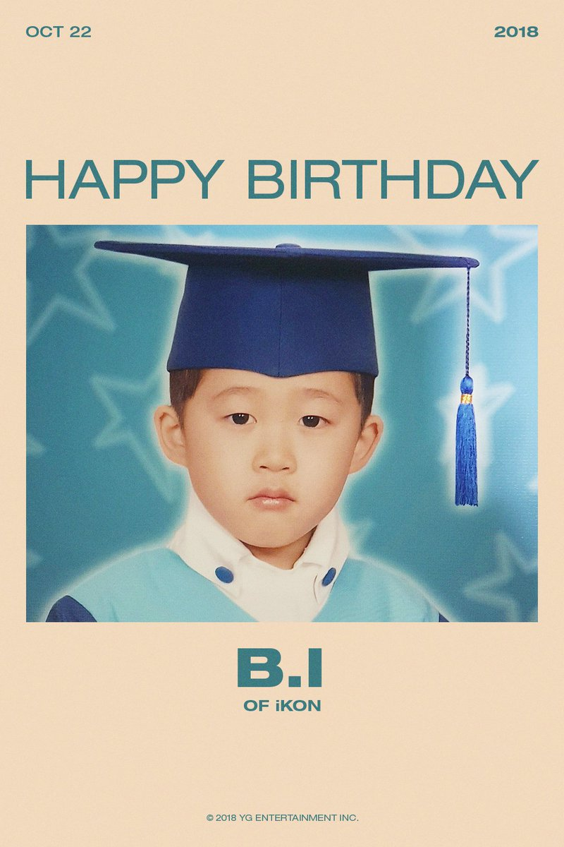 HAPPY BIRTHDAY B.I #iKON #아이콘  #2018_10_22 #HBD #BI
