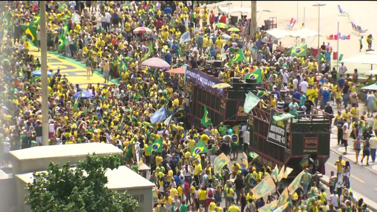 Manifestantes fazem atos a favor de Jair Bolsonaro no Rio de Janeiro e em Brasília: https://t.co/lKtVqkurS7 #GloboNews