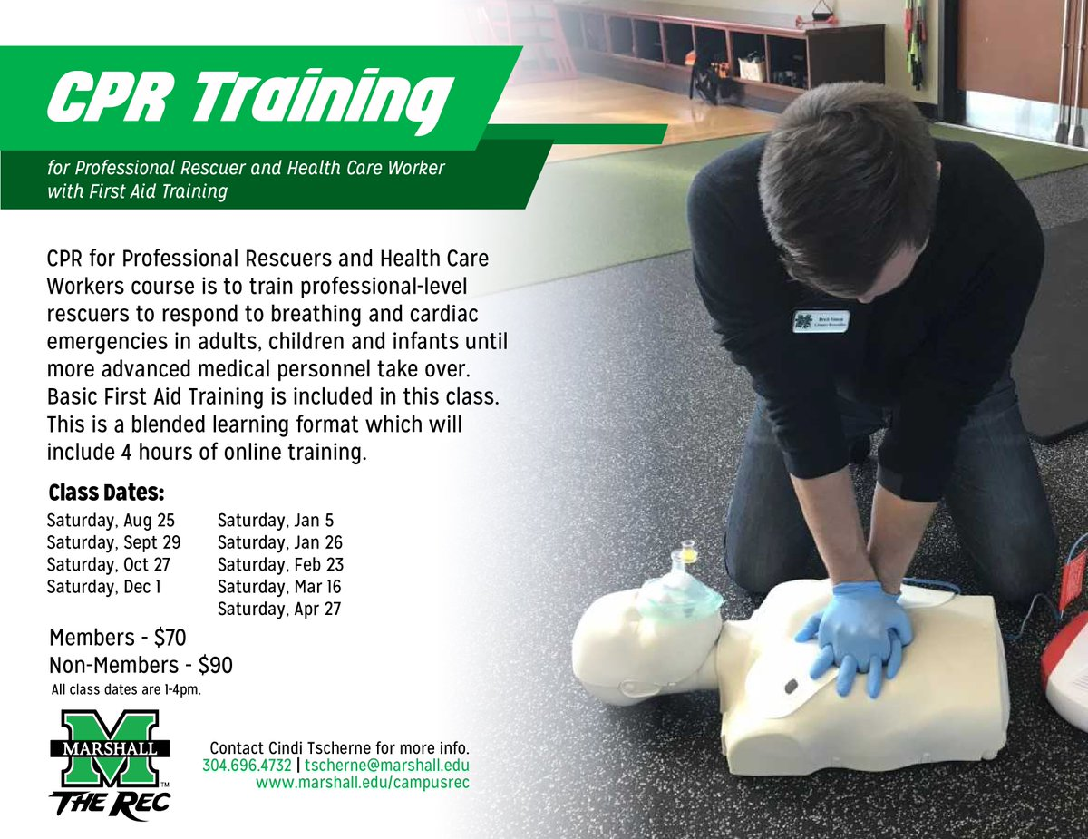 Marshall Rec Center On Twitter Need To Become Cpr Certified You