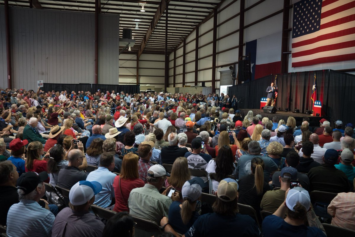 Amazing energy in Beaumont yesterday... Texans are FIRED UP for early voting!   Get out and vote starting tomorrow! #TXSen #KeepTexasRed #ChooseCruz #CruzToVictory