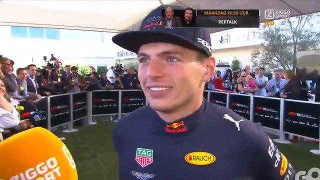 Interview Max Verstappen na Formule 1 GP Amerika