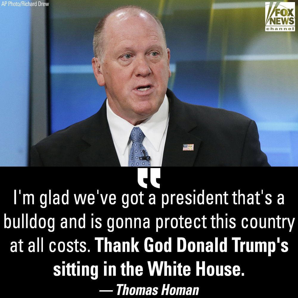 Former ICE Acting Director Thomas Homan discussed @POTUS' response to the migrant caravan headed for the U.S. border during an interview on @foxandfriends Sunday.  https://t.co/Sz2F2TFDVW