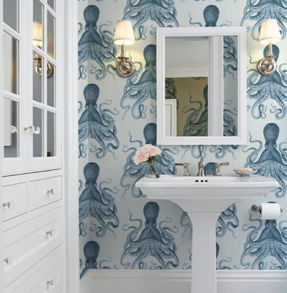 10 Ways to Design a Better Bathroom with Wallpaper: https://t.co/P7RMb3LZ2w