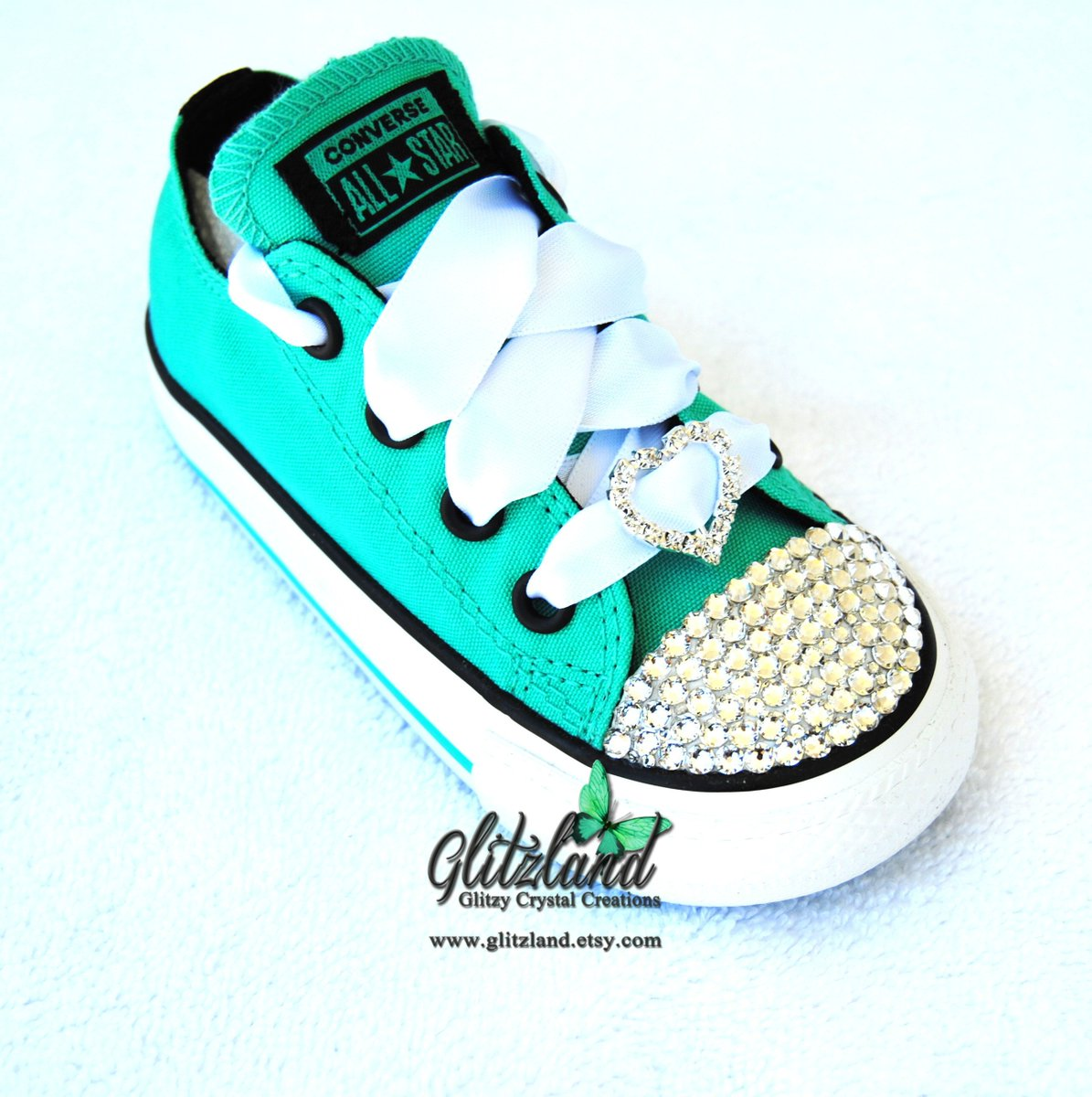 bdd3767c24c5 Excited to share the latest addition to my Etsy shop  SWAROVSKI® Converse  Toddler Chuck