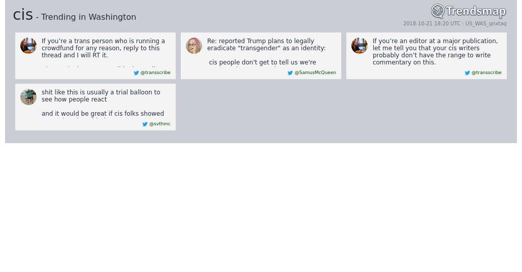 'cis' is now trending in #DC  https://t.co/3UKueTAFo0 https://t.co/SKDenKcgT0