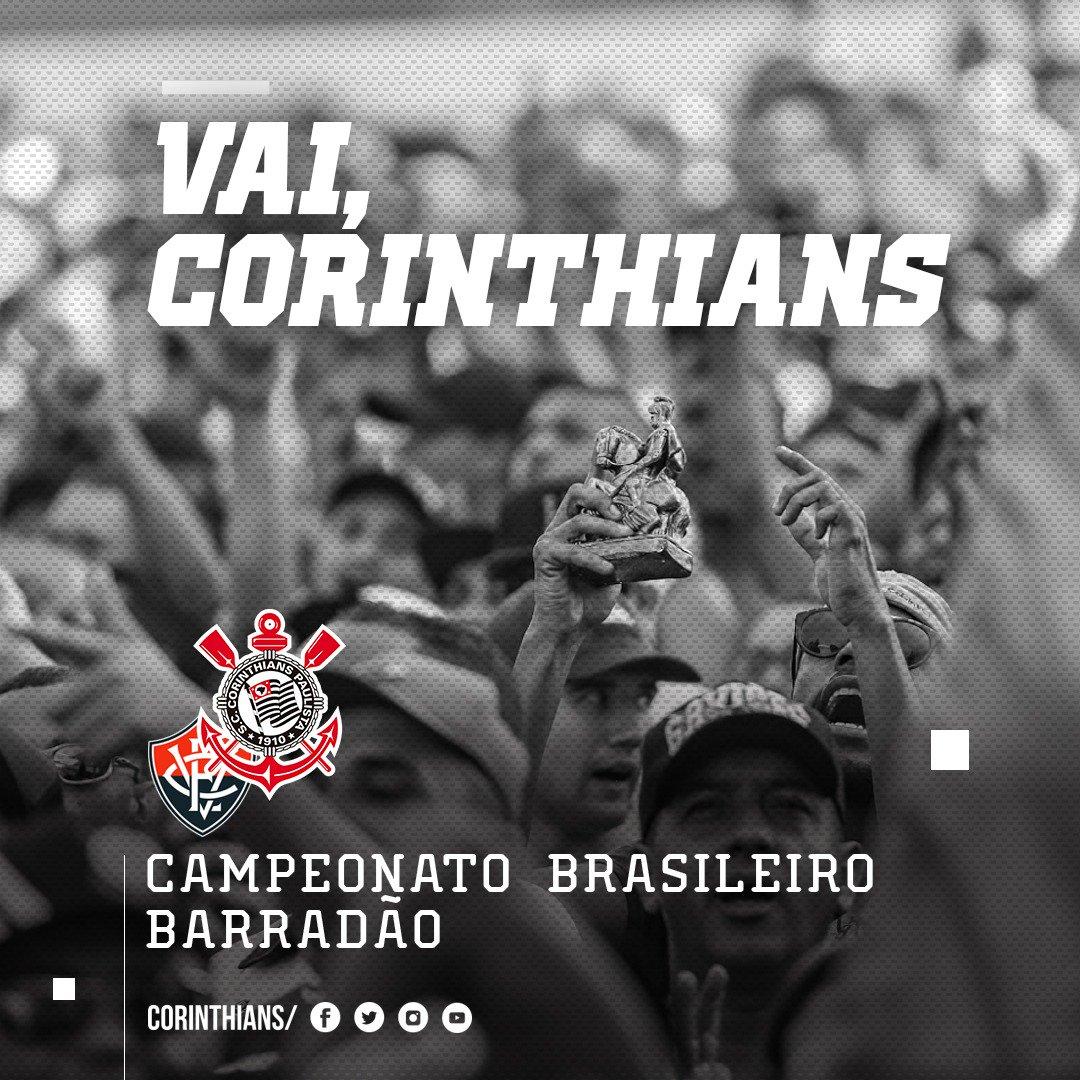 1T | 0 min: Bola rolando no Barradão ⚽  'É o Time do Povo! É o Coringãooo!!!' 🎶  #VaiCorinthians #VITxSCCP (0x0)