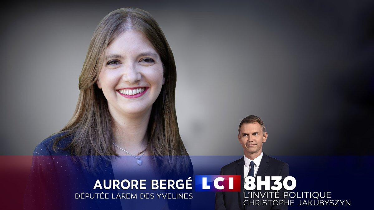 [RDV]  Ce lundi 22 octobre à 8h30, la députée #LaREM des Yvelines @auroreberge est l'invitée de @chrisjaku dans @LCImatin, sur  .  #LCI#La26#LaMatinaleLCI
