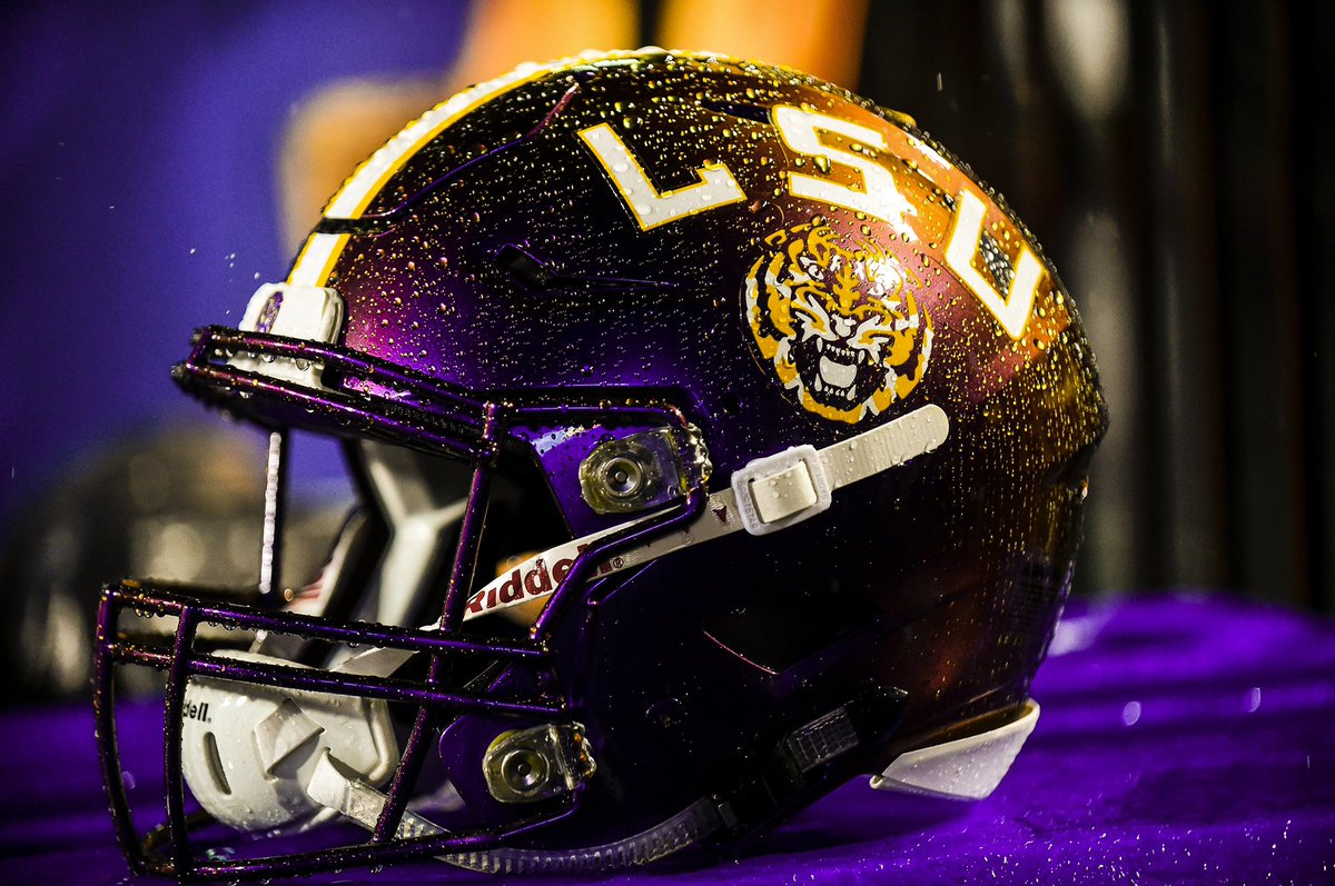 ... hard to do an alternate helmet for a team with a primary as iconic as  LSU s gold lids f257409e8