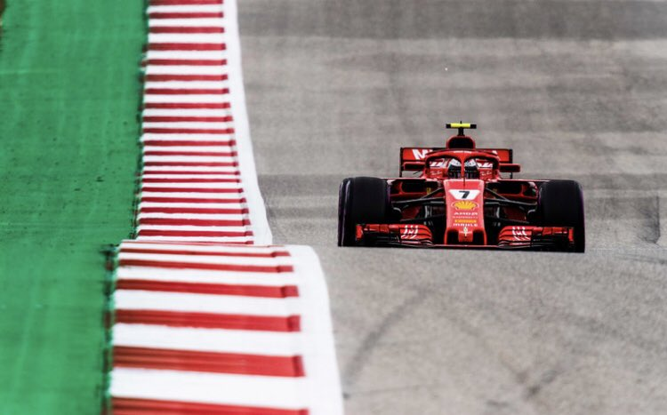 VER is 1.9 to #Kimi7 in P1, forza Kimi #USGP