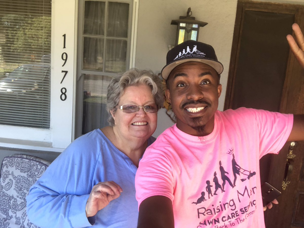 I had the pleasure of mowing Ms. Koenings lawn for her in San Bernardino, CA. It was great seeing her ! Making a difference one lawn at a time