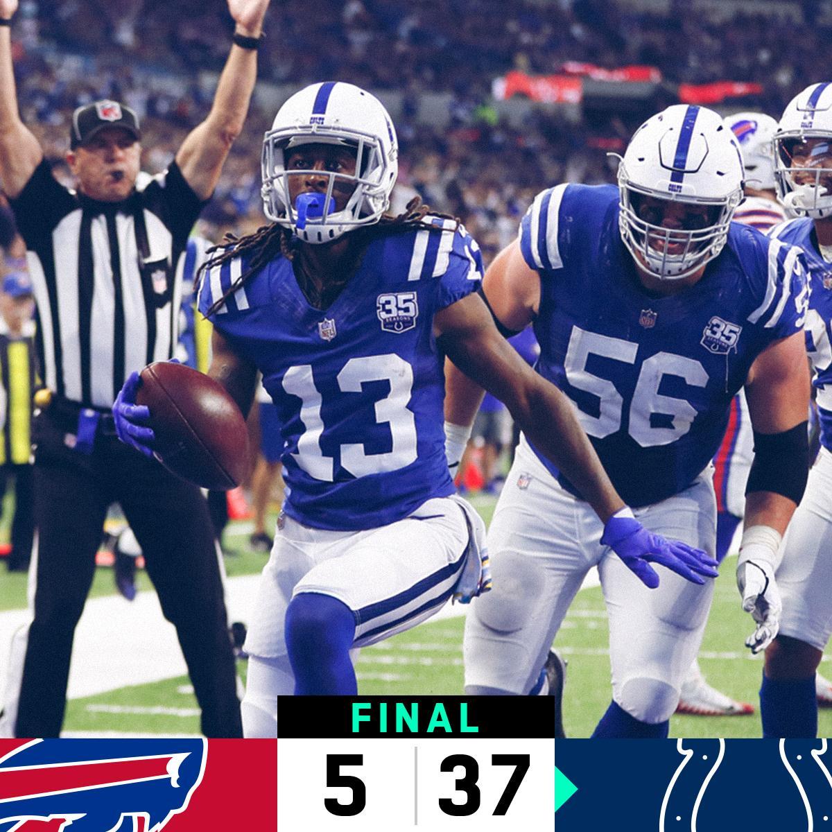 FINAL: @Colts defeat the Bills! #BUFvsIND  #Colts https://t.co/a3k6v5WC8T