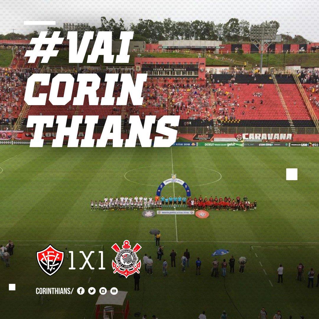 2T | 0 min: Começa o segundo tempo!   #VITxSCCP (1x1)  #VaiCorinthians