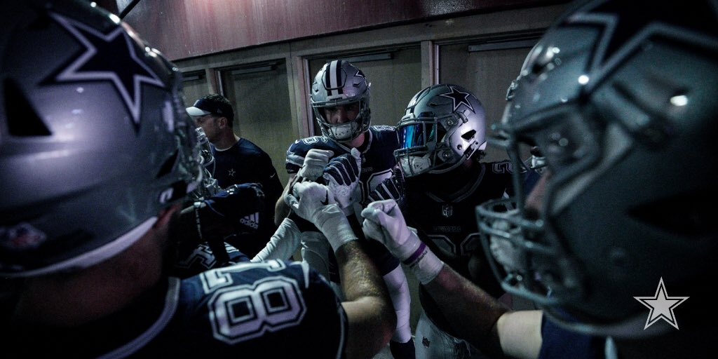 Huddle up.   #DALvsWAS | #DallasCowboys
