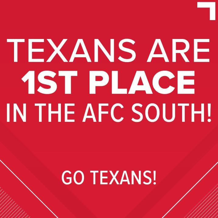 GO TEXANS! Houston defeats Jacksonville 20-7. ❤️🏈💙