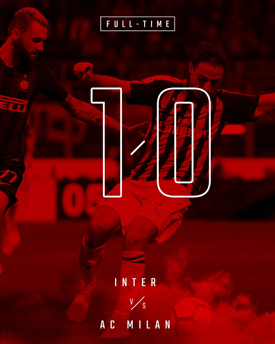 Inter win the derby / Il Derby va all'Inter #InterMilan 1-0
