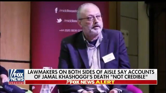 Lawmakers on both sides of aisle say accounts of Jamal Khashoggi's death 'not credible' https://t.co/CC8svM0iAb https://t.co/KVgNma9GTe