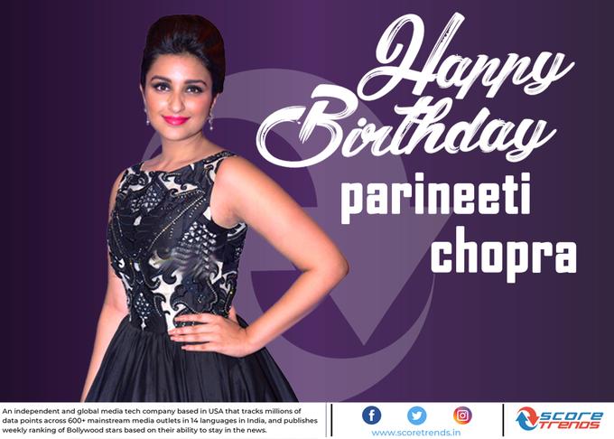 Score Trends wishes Parineeti Chopra a Happy Birthday!