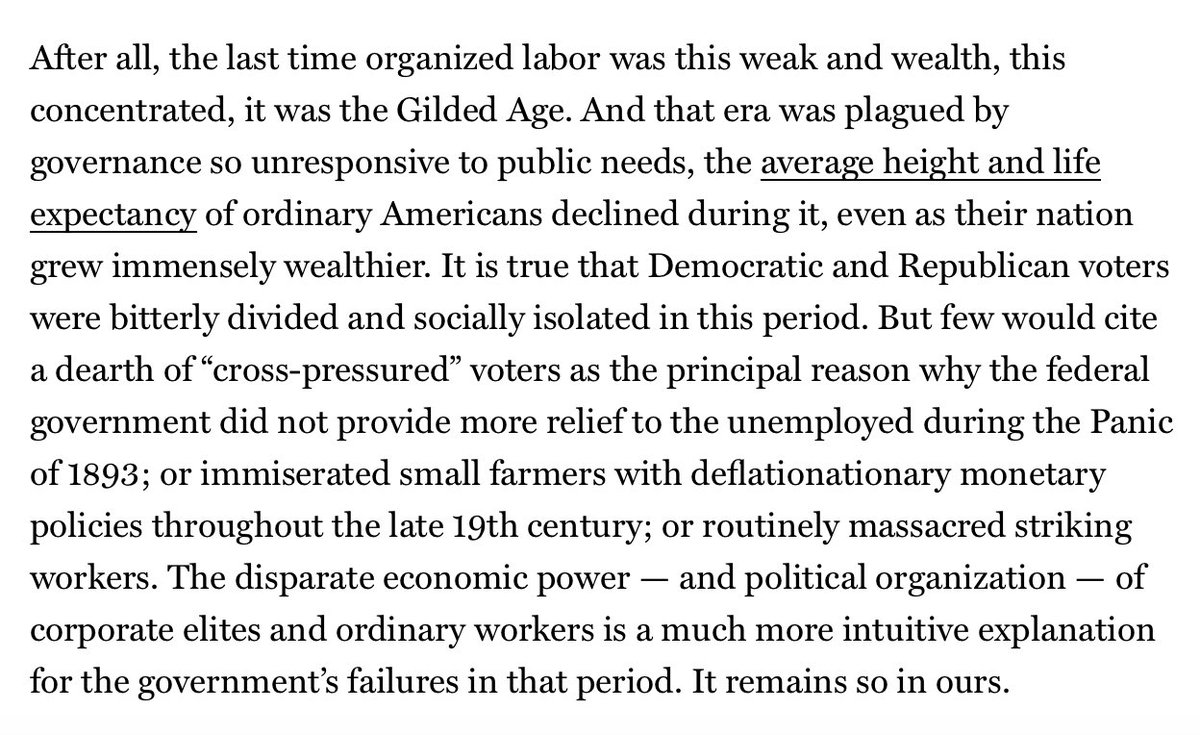 Tribalism is not the primary cause of democratic dysfunction in the U.S. The extraordinary level of economic power -- and political organization -- that reactionary elites have amassed is. http://nymag.com/intelligencer/2018/10/polarization-tribalism-the-conservative-movement-gop-threat-to-democracy.html…