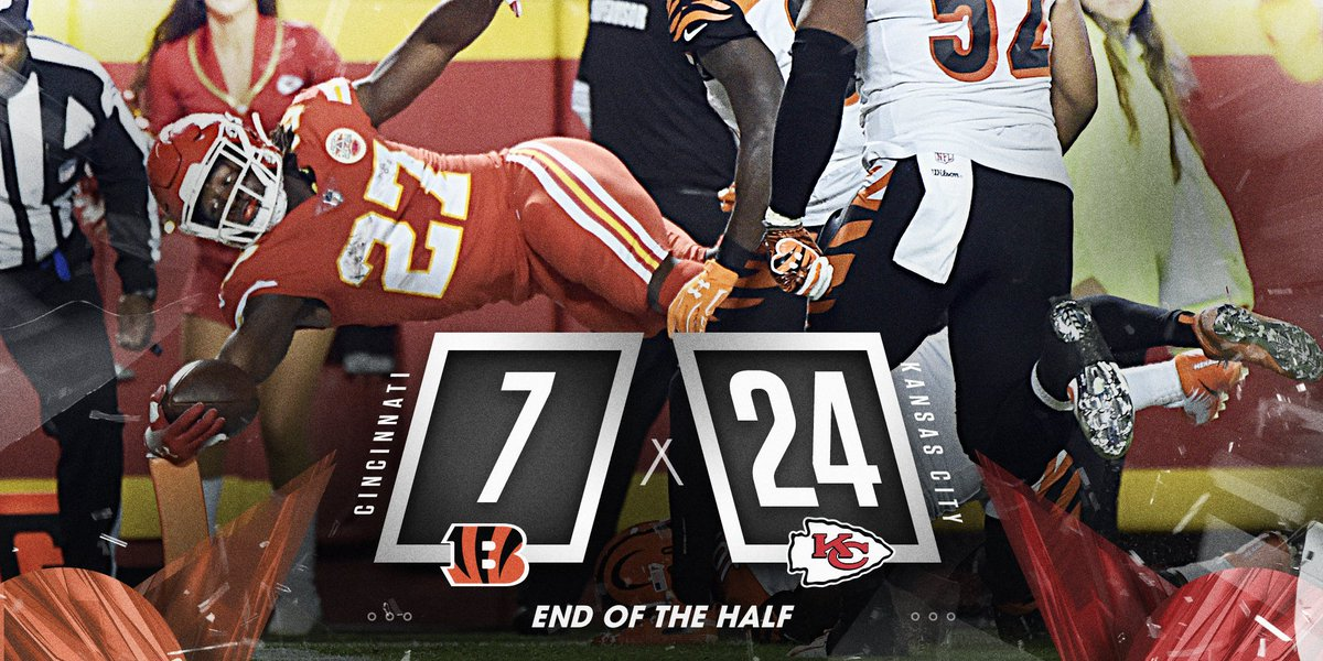 The @Chiefs are rolling at Arrowhead. #CINvsKC #SNF