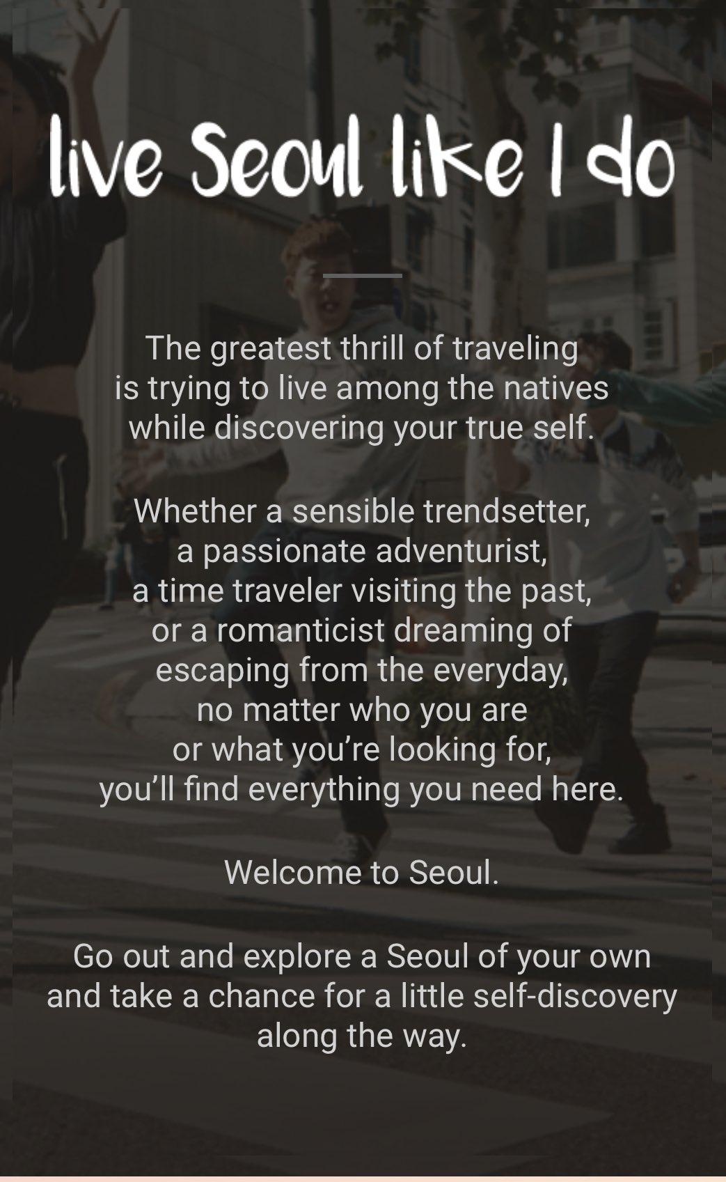 Live Seoul Like I Do  Live Seoul like #BTS  does! #myseoulplaylist @BTS_twt @bts_bighit https://t.co/bEIrJvx31t https://t.co/hDYQxOfReb