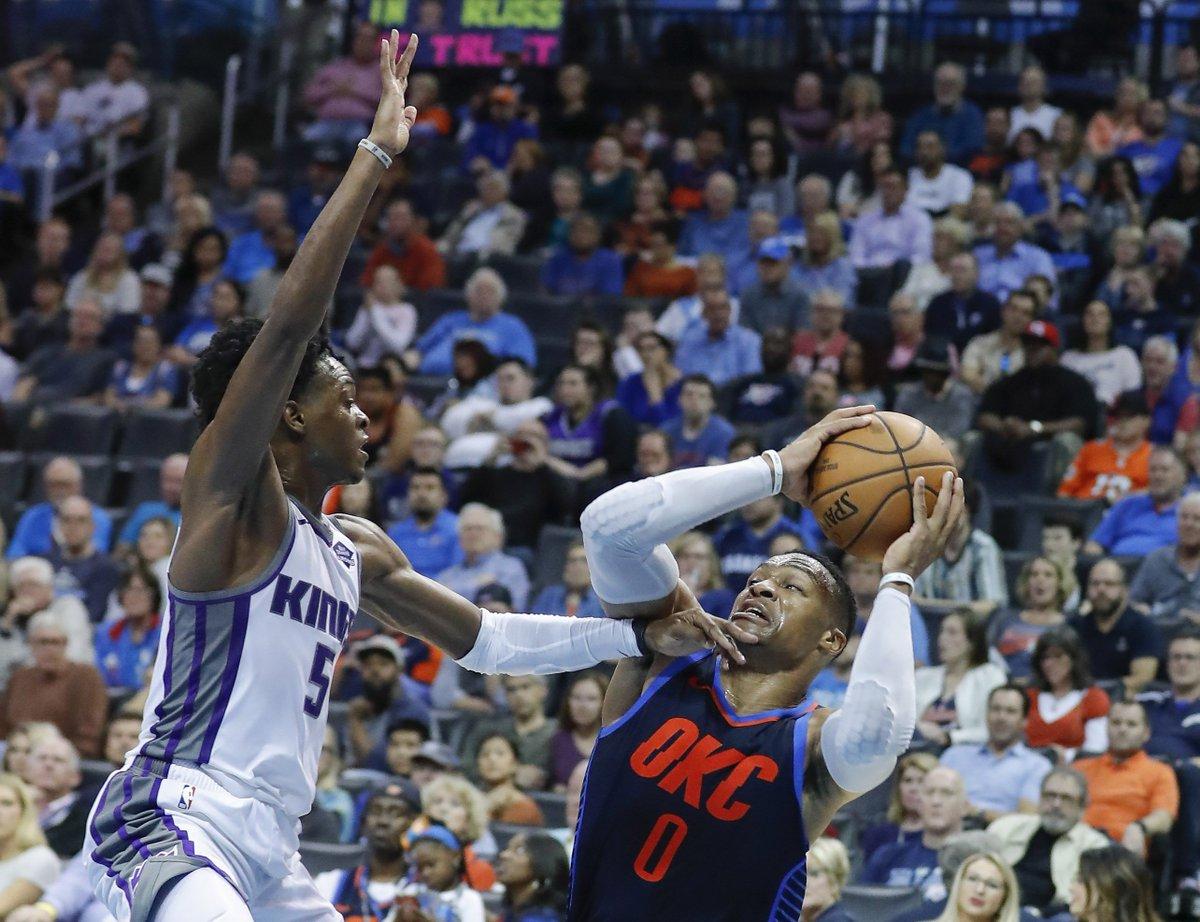Westbrook fica perto de triplo-duplo em estreia na temporada, mas Thunder perde para os Kings https://t.co/I2xYaPPR7l