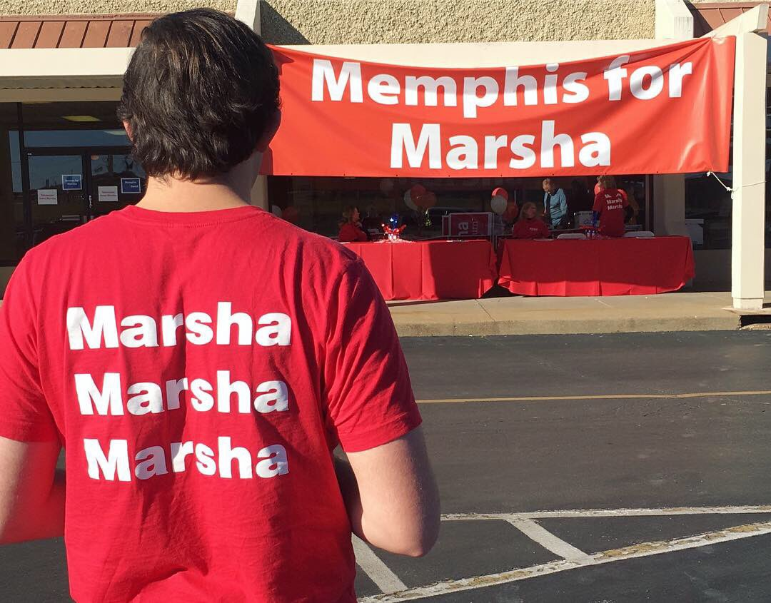 Memphis ❤️'s Marsha! Our supporters are hard at work getting ready for our get out the vote rally #TeamMarsha https://t.co/BGNZLi4OUl