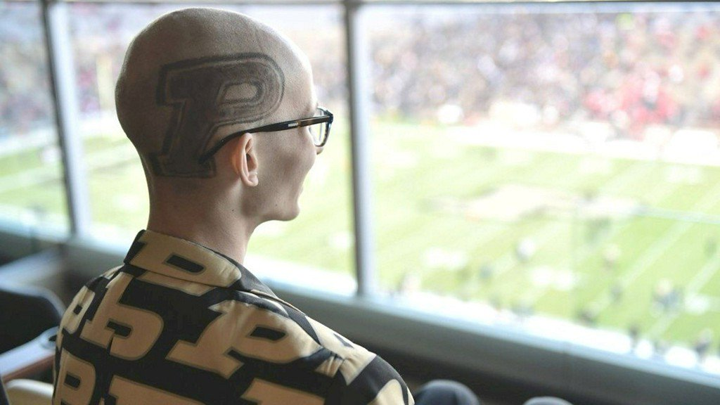 Tyler Trent, Purdue student battling cancer, was there when his team upset Ohio State https://t.co/NfxS5rZ3NM